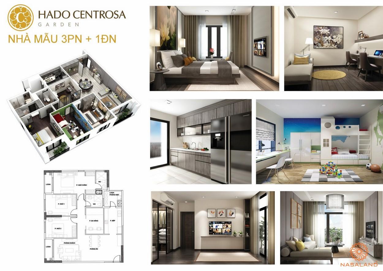 Thiết kế nhà mẫu 3PN + 1ĐN dự án căn hộ HaDo Centrosa Garden