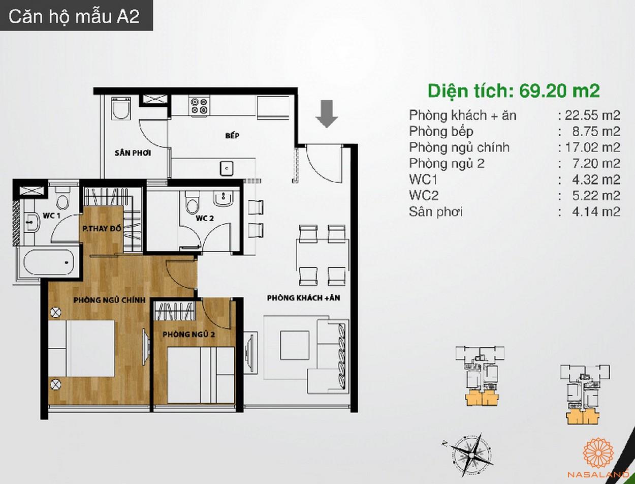Hình ảnh căn hộ mẫu A2 dự án The Ascent Quận 2