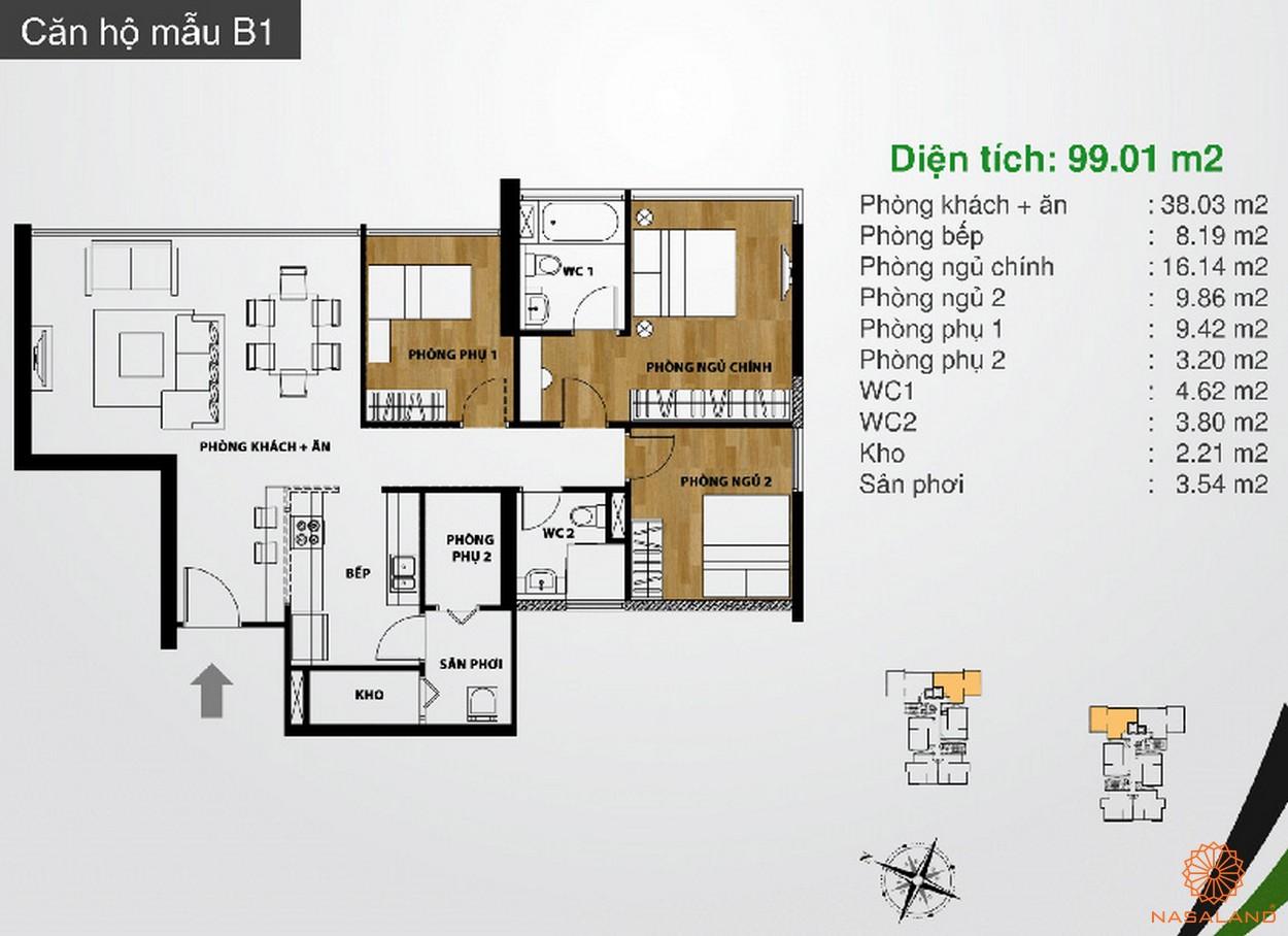Hình ảnh căn hộ mẫu B1 dự án The Ascent Quận 2