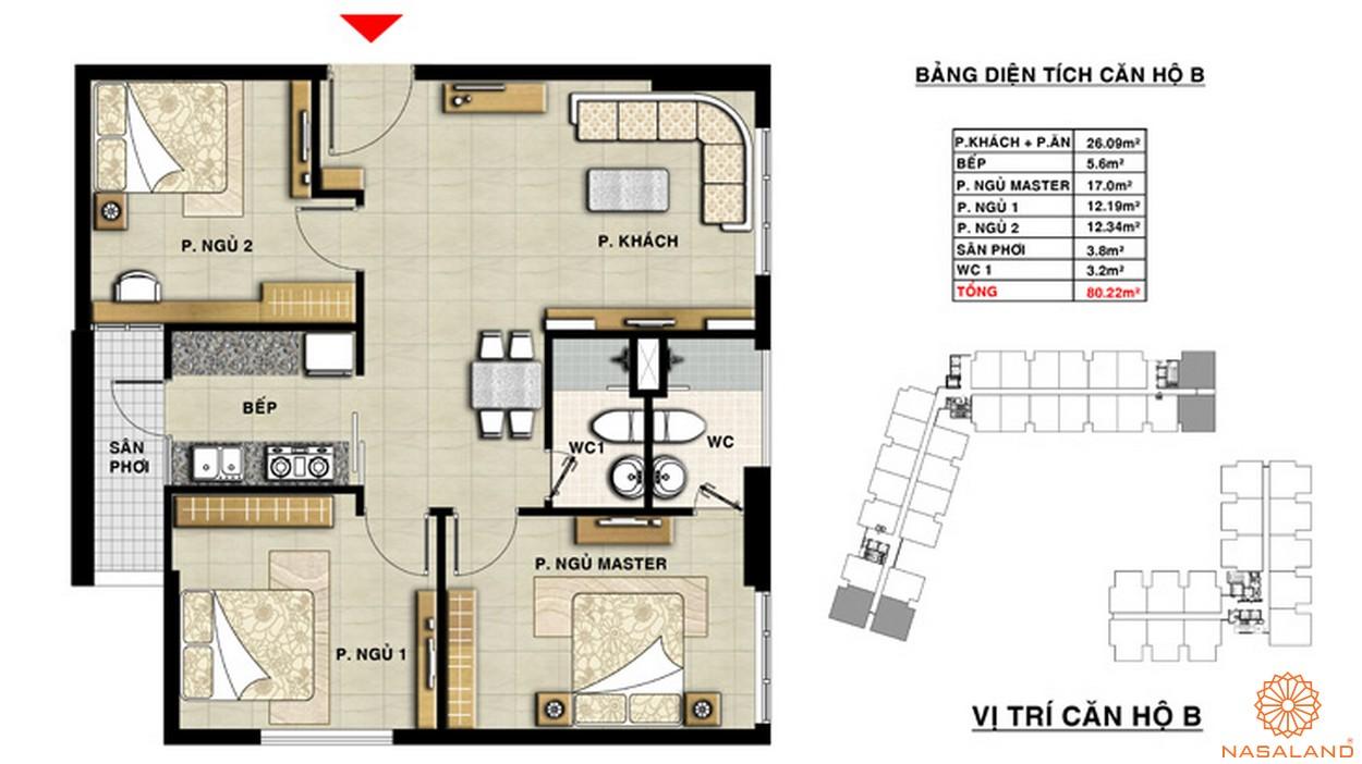 Mặt bằng căn hộ chung cư The CBD Premium Quận 2 Đường Cát Lái chủ đầu tư