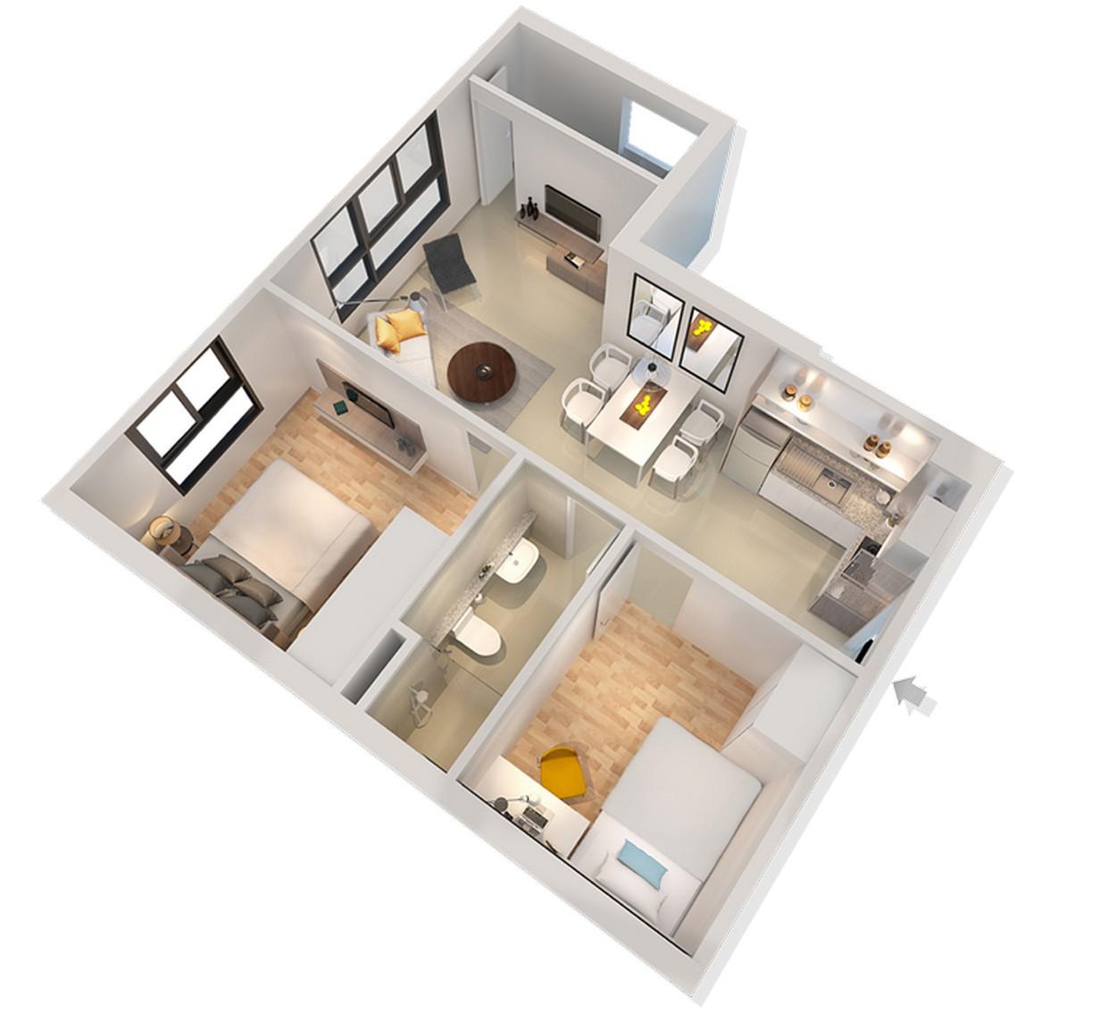 Mặt bằng của căn hộ dự án CitiHome