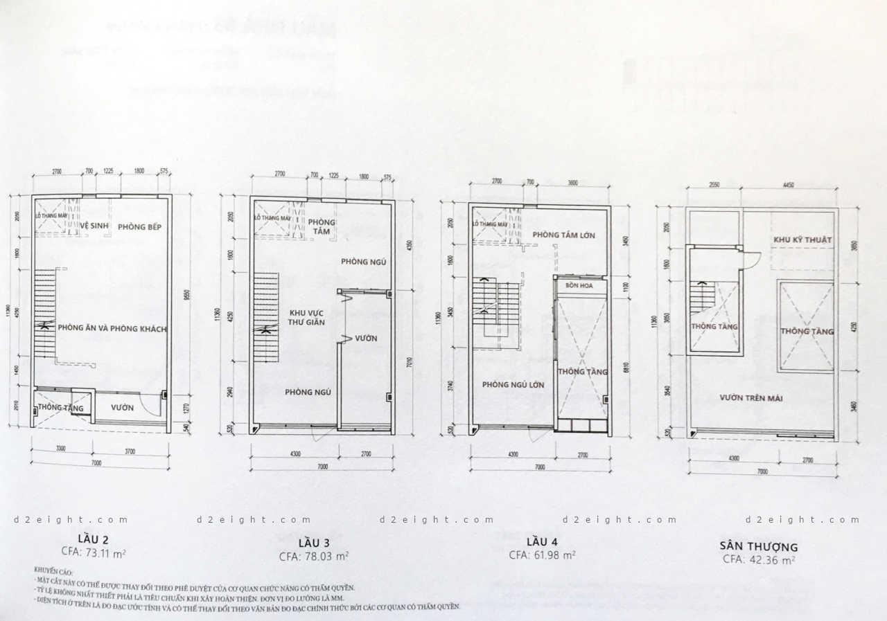 Mặt bằng căn hộ dự án D2Eight
