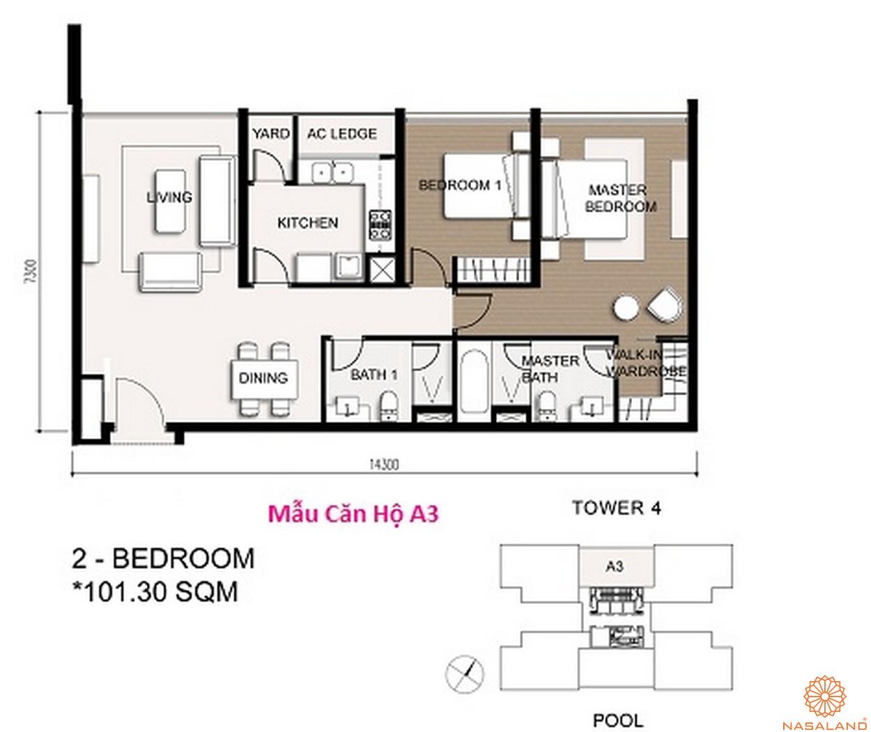 Mặt bằng dự án căn hộ chung cư The Vista An Phú Quận 2 Đường chủ đầu tư
