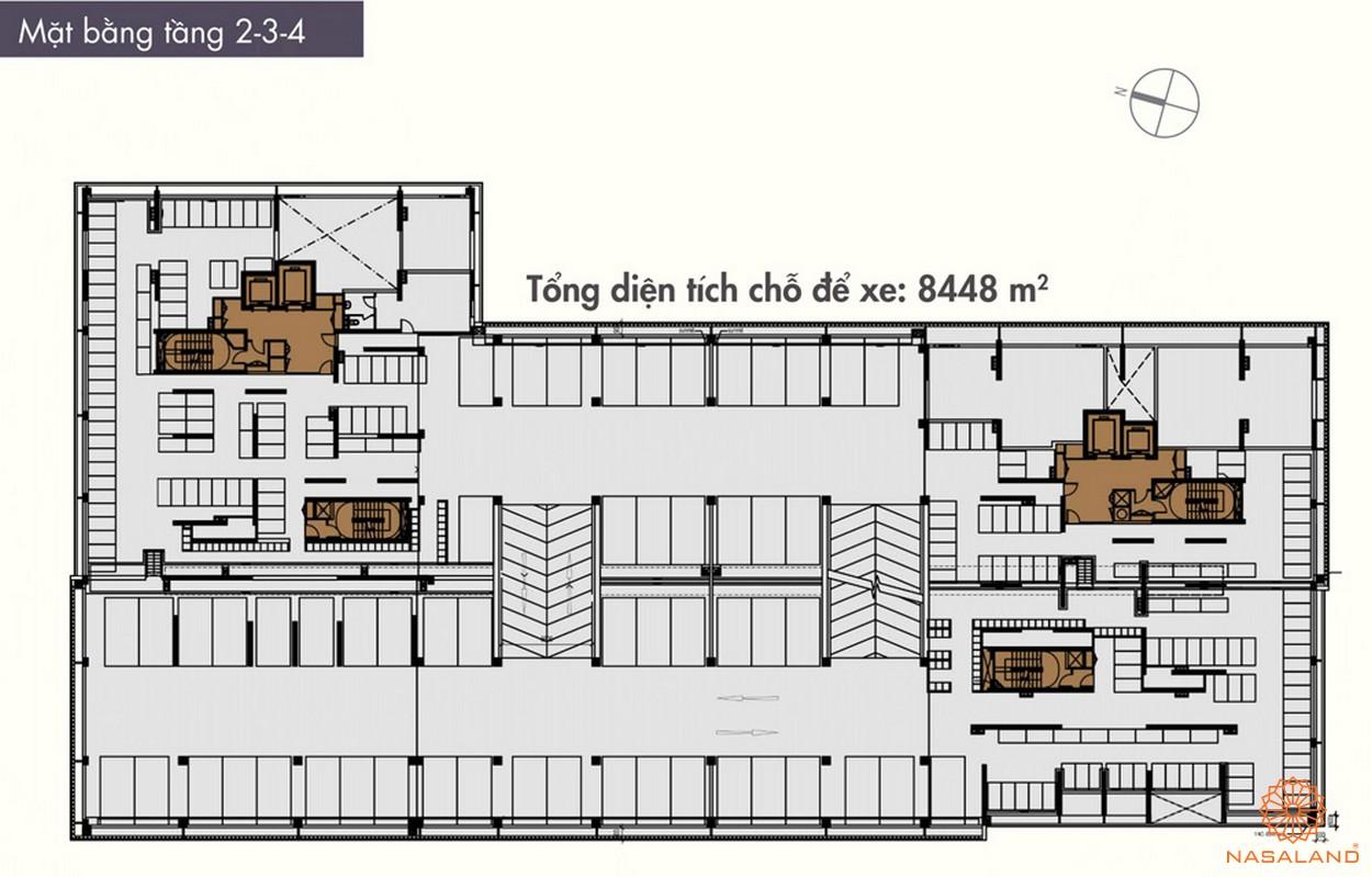 Mặt bằng điển hình tầng 2-3-4 của dự án The ascent Quận 2