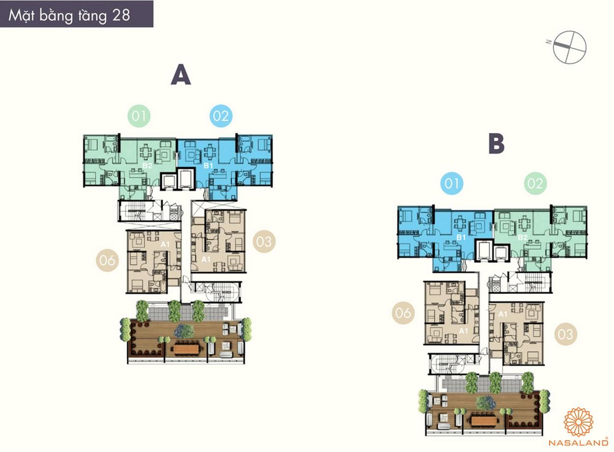 Mặt bằng điển hình tầng 28 của dự án The Ascent Quận 2