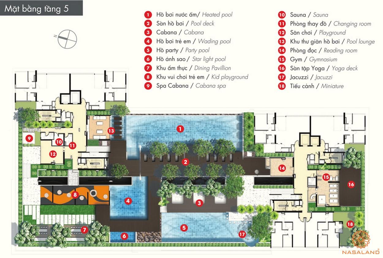 Mặt bằng tiện ích tổng quan của dự án The ascent Quận 2