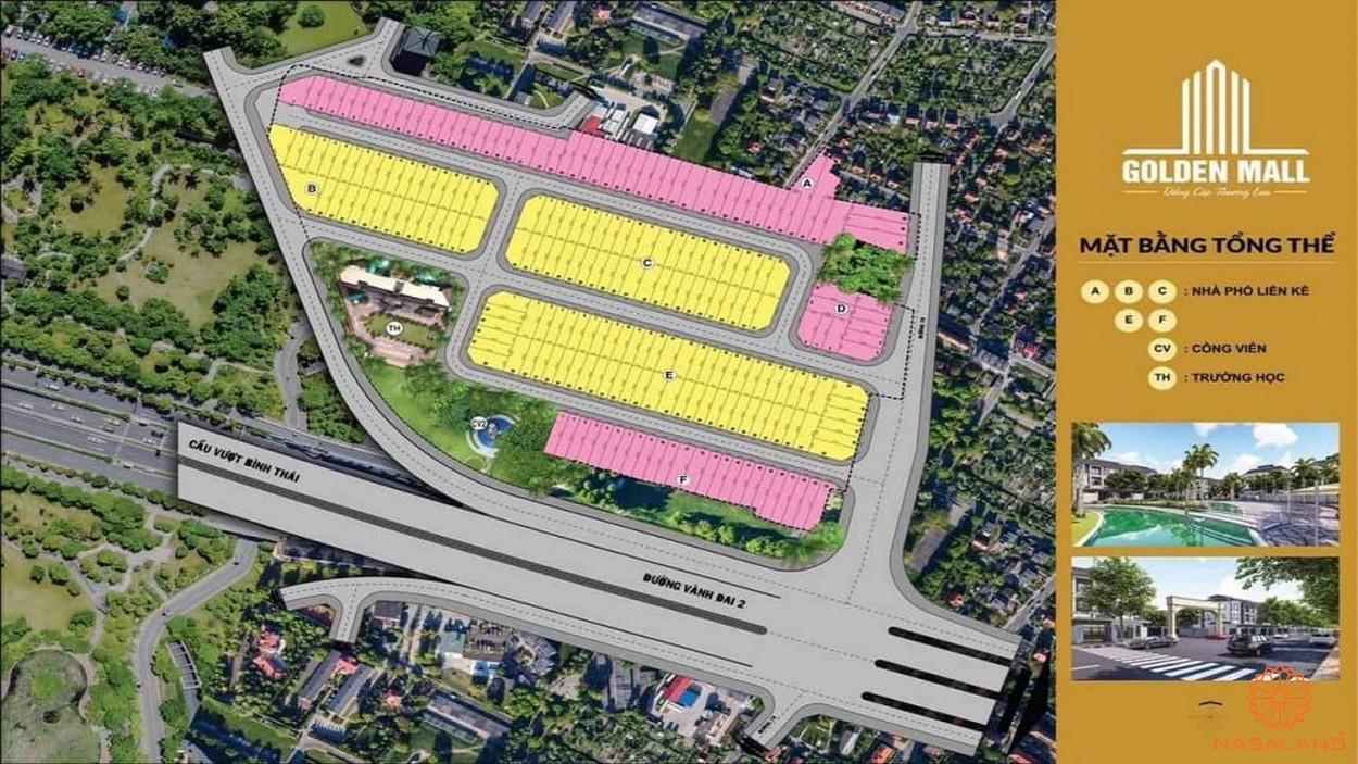 Mặt bằng tổng thể dự án Golden Mall Quận 9