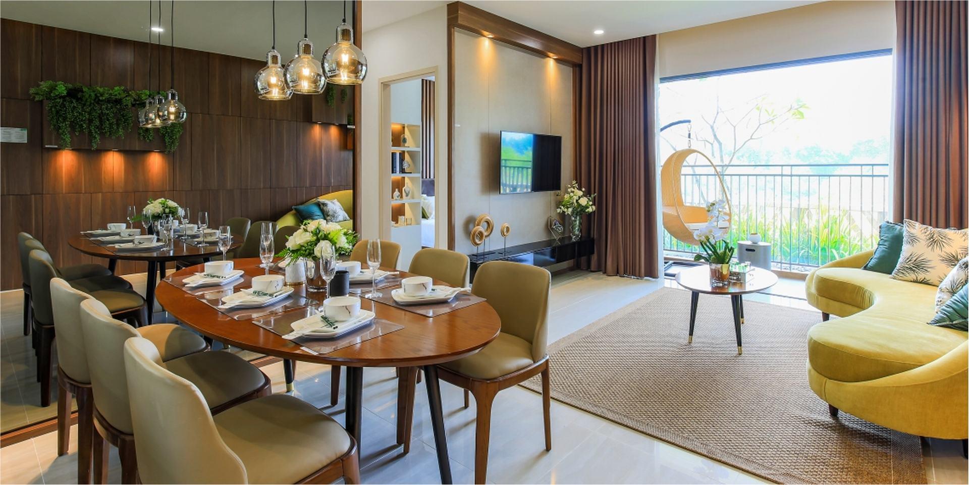 Nội thất căn hộ chung cư Palm Garden Quận 2 Đường Song Hành chủ đầu tư Keppel Land