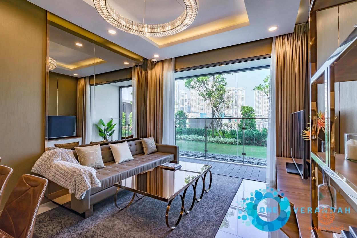 Nhà mẫu phòng khách căn hộ One Verdandah