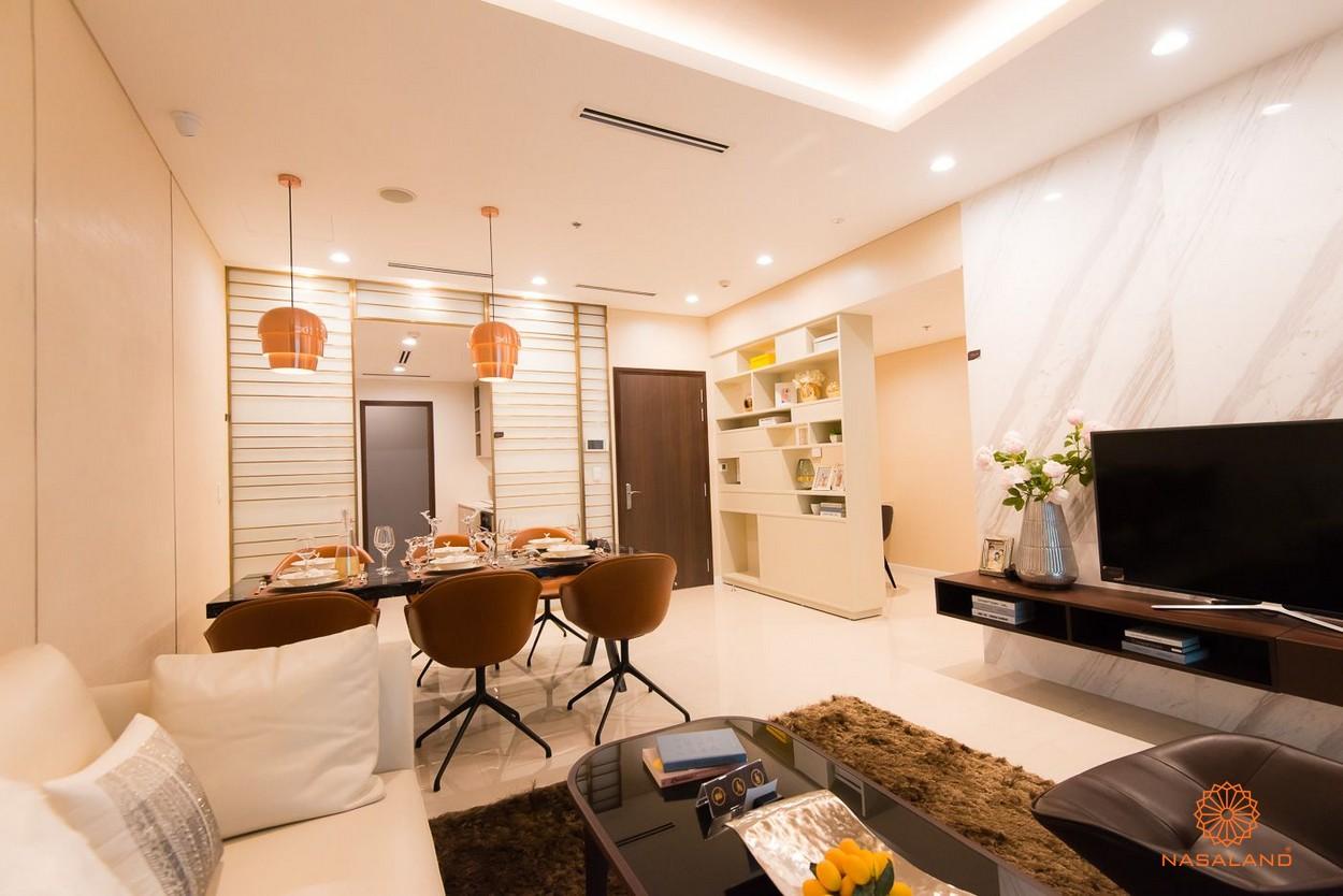 thiết kế phòng khách và bàn ăn căn hộ One Verandah