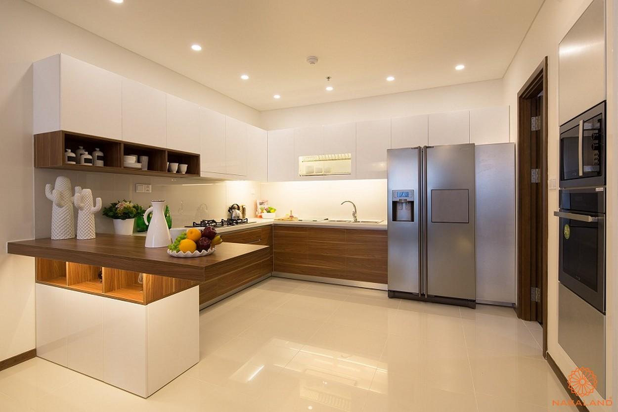 Nhà mẫu phòng bếp điển hình tại căn hộ chung cư Thảo Điền Pearl Quận 2