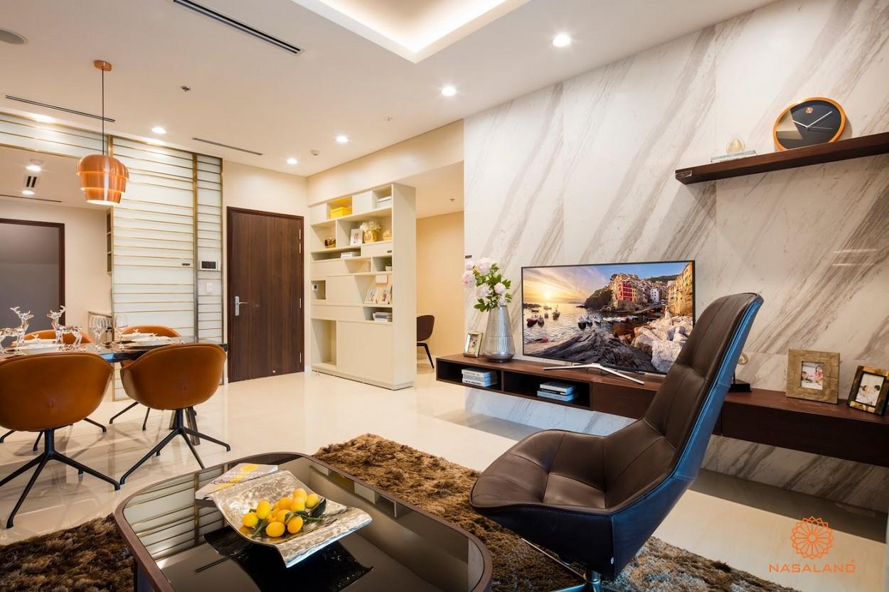 Nội thất phòng khách căn hộ One Verandah