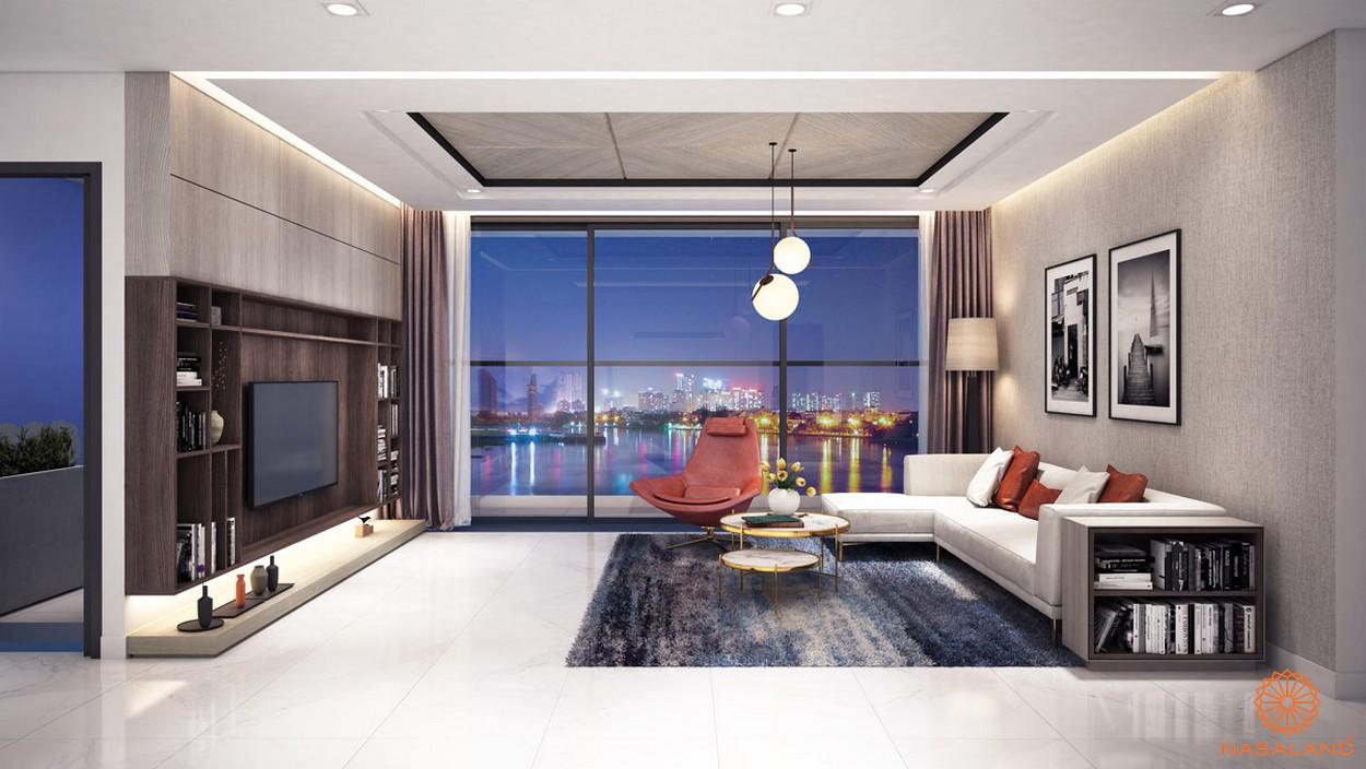Thiết kế phòng khách căn hộ Thủ Thiêm Dragon