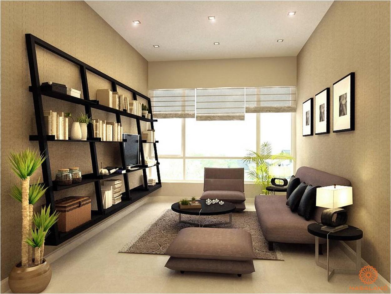 nhà mẫu phòng khách điển hình tại căn hộ chung cư Thảo Điền Pearl Quận 2