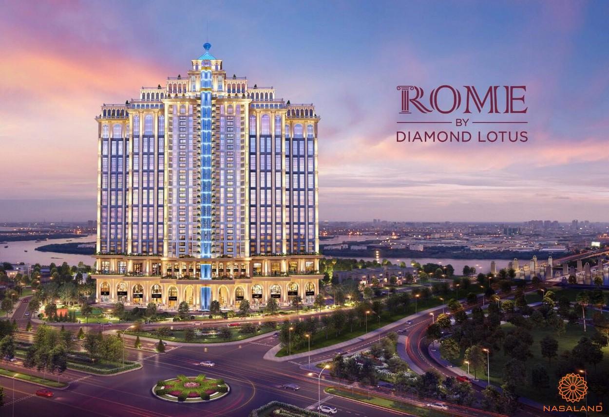 Hình ảnh phối cảnh dự án căn hộ Rome Diamond Lotus Quận 2