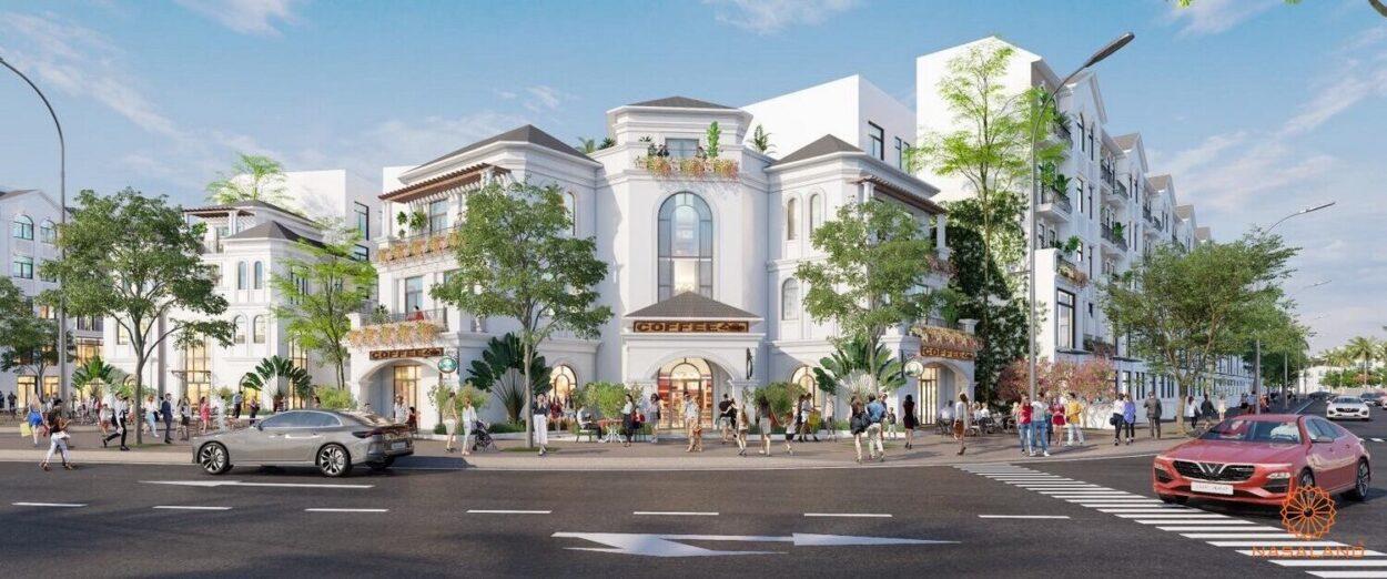 Phối cảnh nhà phố thấp tầng Vinhomes Quận 9 phong cách Địa Trung Hải