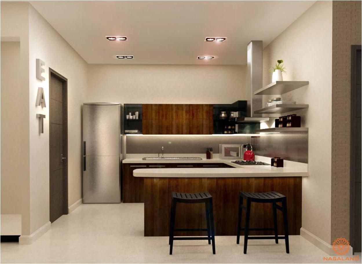 Thiết kế phòng bếp tiện nghi và sang trọng tại căn hộ Thảo Điền Pearl Quận 2