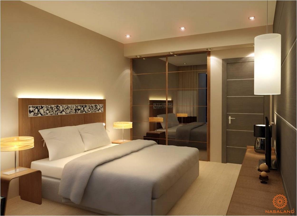 Thiết kế phòng ngủ đơn giản nhưng ấm cúng tại căn hộ Thảo Điền Pearl Quận 2