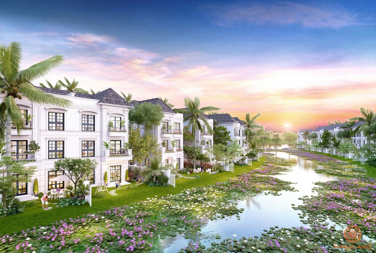 Riverisde Villa mang phong cách đông dương tại Vinhomes grand Park