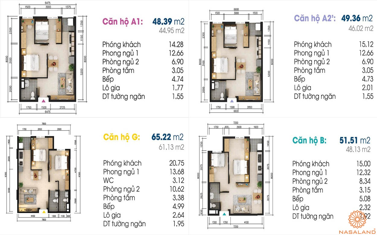 Thiết kế căn hộ Sky 9 Quận 9