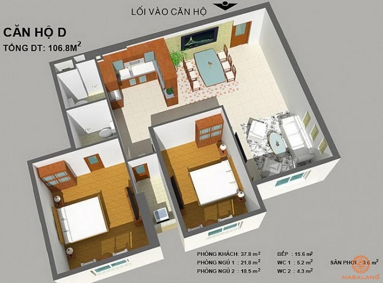 Thiết kế căn hộ dự án căn hộ Cherry Apartment