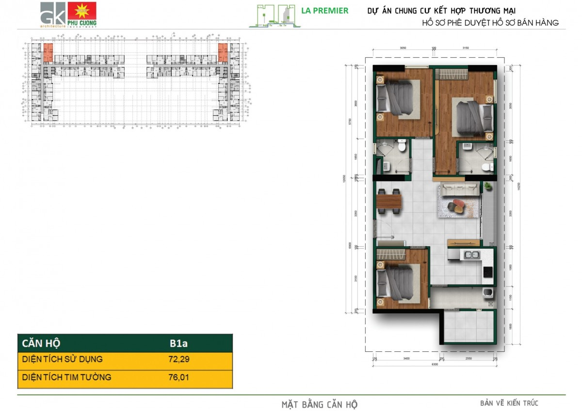 Thiết kế dự án căn hộ La Premier Quận 2 đường Võ Chí Công