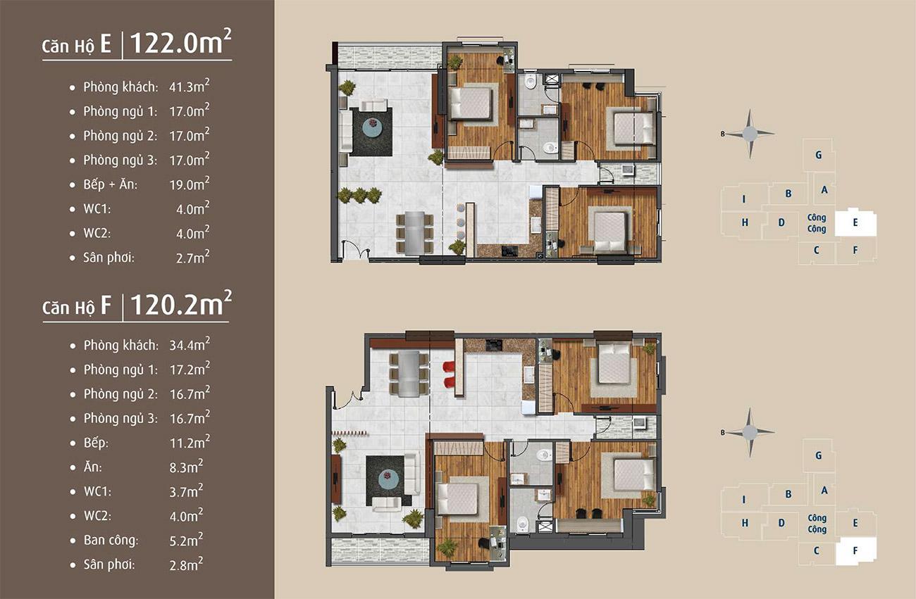 Thiết kế điển hình của căn hộ dự án Golden Grand