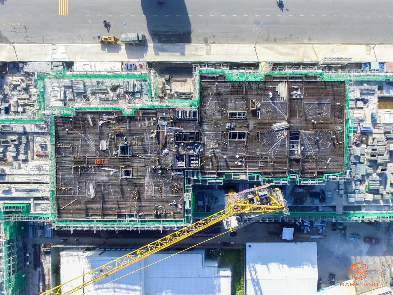 Hình ảnh tiến độ mặt bằng One Verandah nhìn từ trên cao