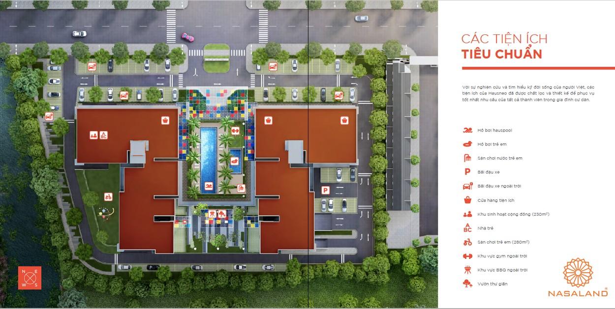 Tổng quan tiện ích tiêu chuẩn tại dự án căn hộ Hausneo Quận 9