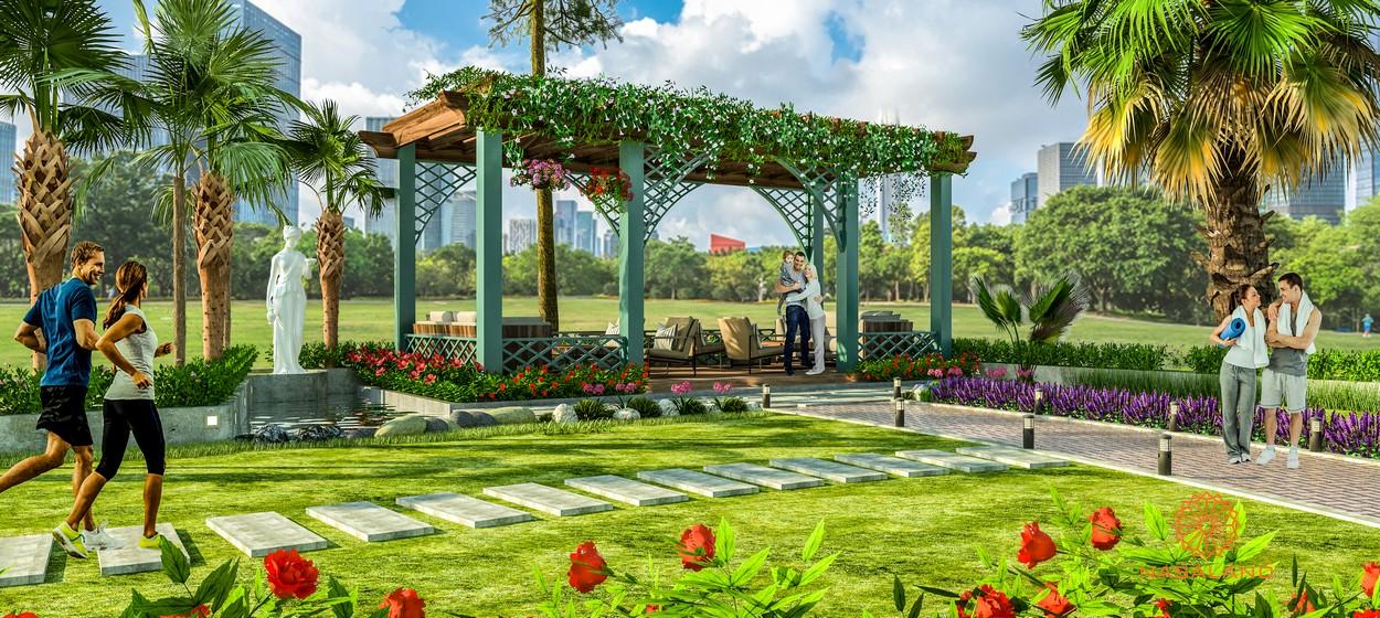 Vườn thư giãn kiểu đảo Bali tại Paris Hoàng Kim