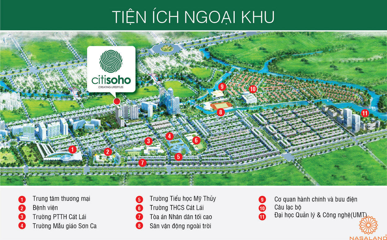 Tiện ích ngoại khu CitiSoho