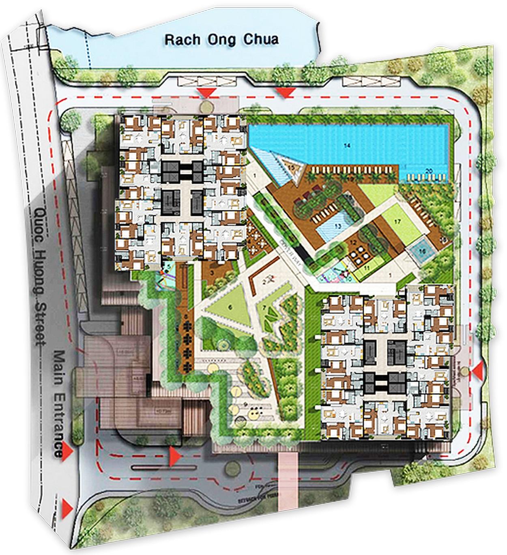 Vị trí tổng quan dự án Thảo Điền Pearl Quận 2