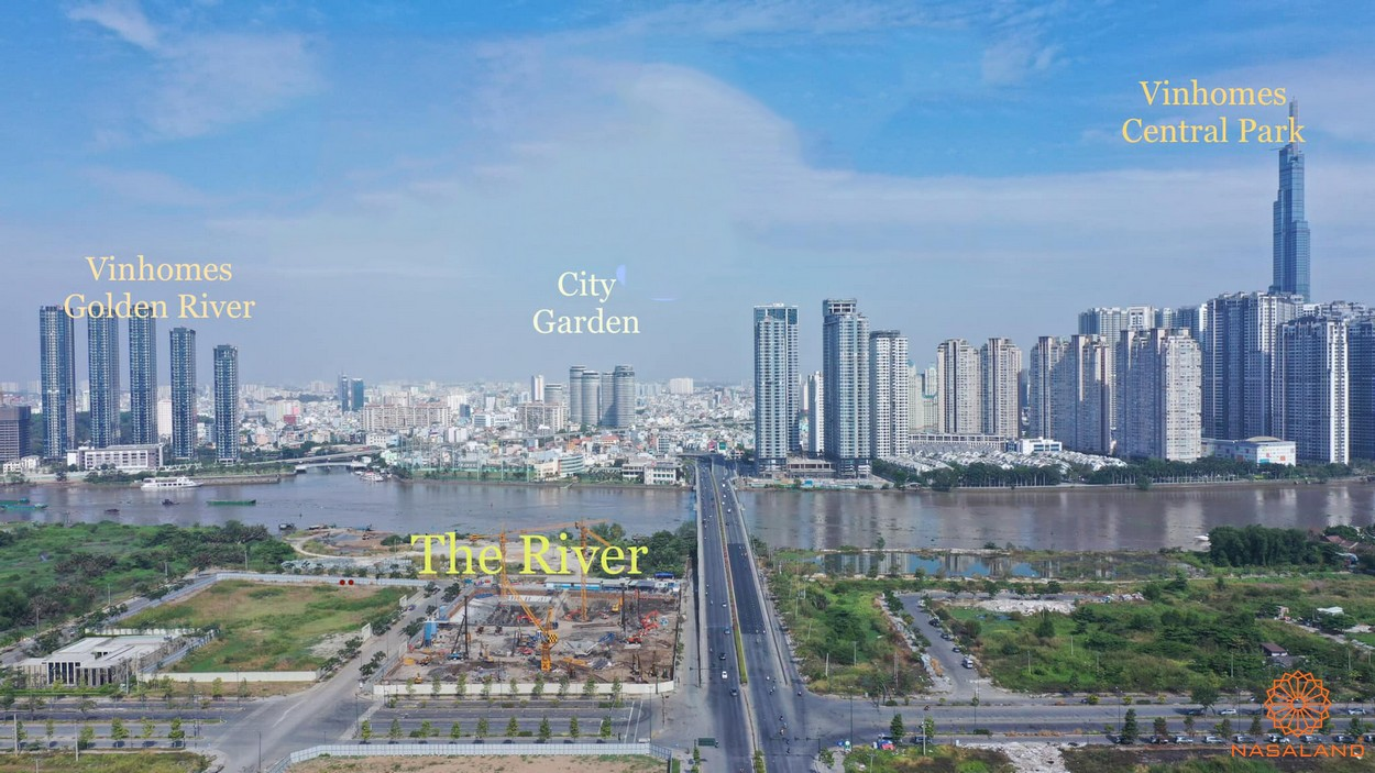 Vị trí địa chỉ dự án căn hộ The River Thủ Thiêm Quận 2 đường Nguyễn Cơ Thạch chủ đầu tư CII