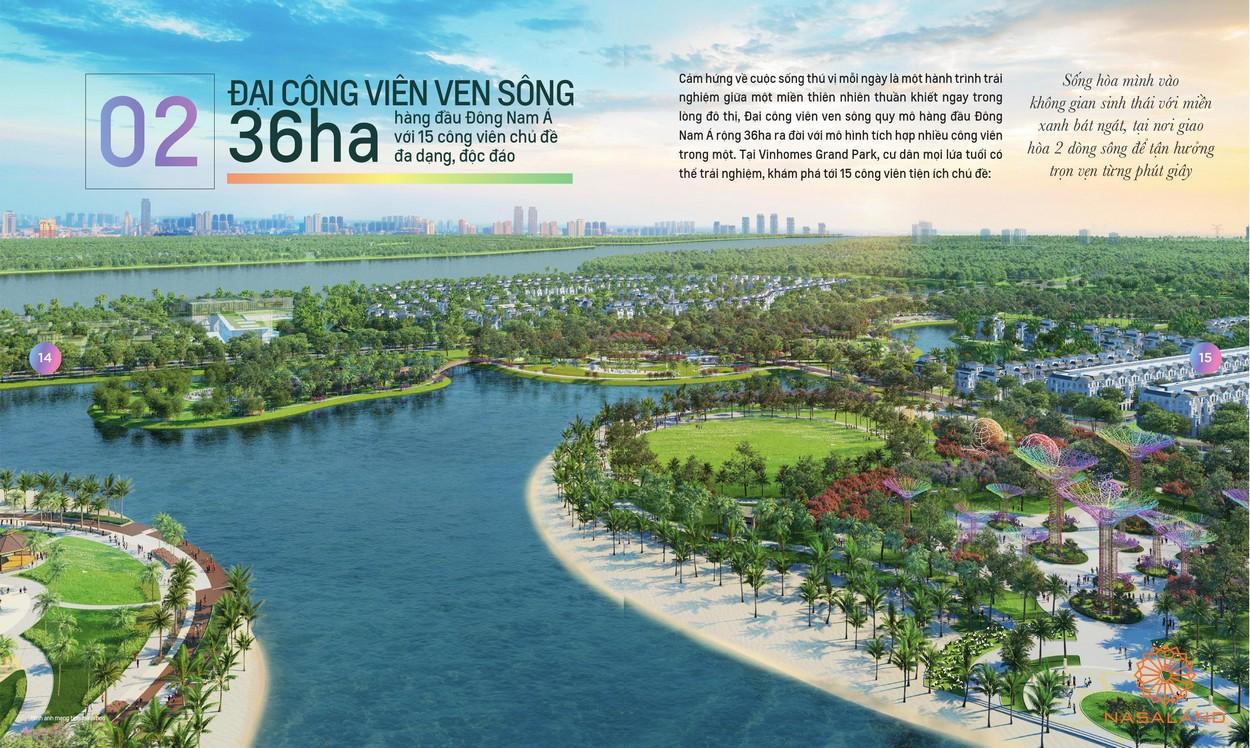 Công viên xanh - tiện ích nội khu dự án căn hộ Masterise Marina Central