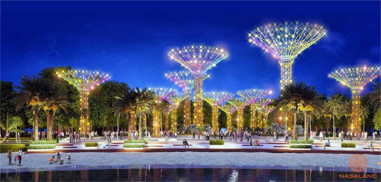 Công viên ánh sáng - tiện ích nội khu dự án căn hộ Masterise Marina Central
