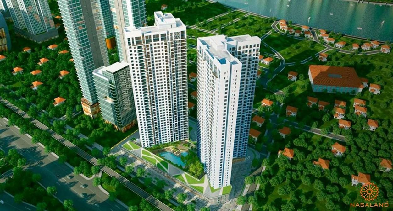 Phối cảnh tổng thể dự án cùng cdt căn hộ Masterise Marina Central