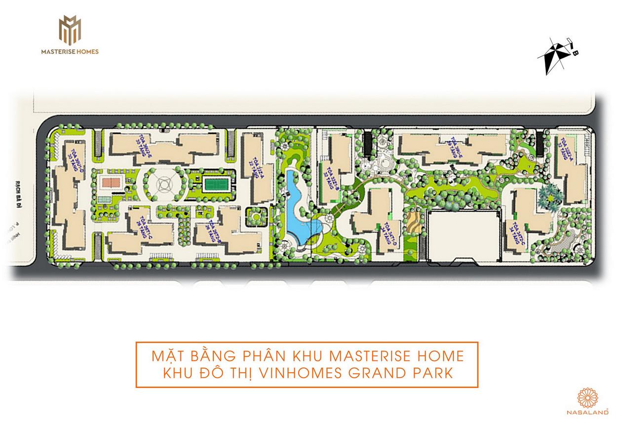Mặt bằng dự án căn hộ Masterise Marinal Central quận 9 đường Vành Đai 3 chủ đầu tư Masterise Homes