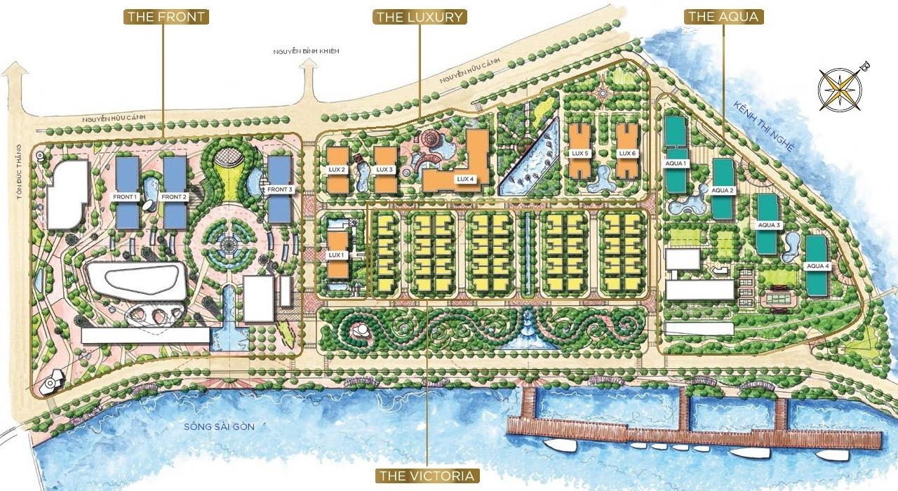 Mặt bằng tổng thể dự án Vinhomes Golden River