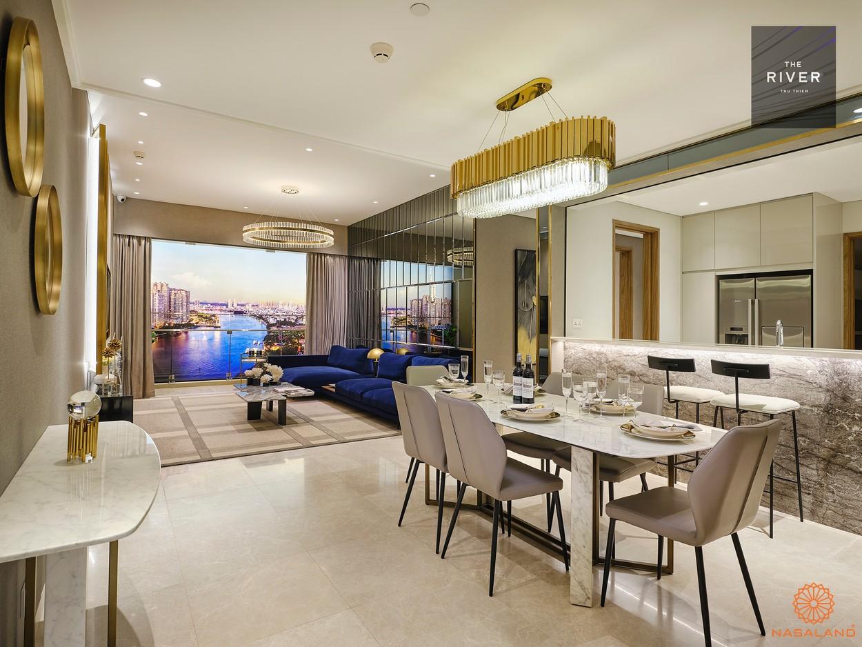 Nhà mẫu dự án căn hộ The River Thủ Thiêm Quận 2 đường Nguyễn Cơ Thạch chủ đầu tư CII
