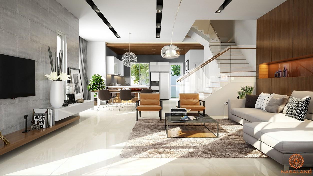 Mô hình phòng khách trong căn hộ tại dự án Lakeview City quận 2