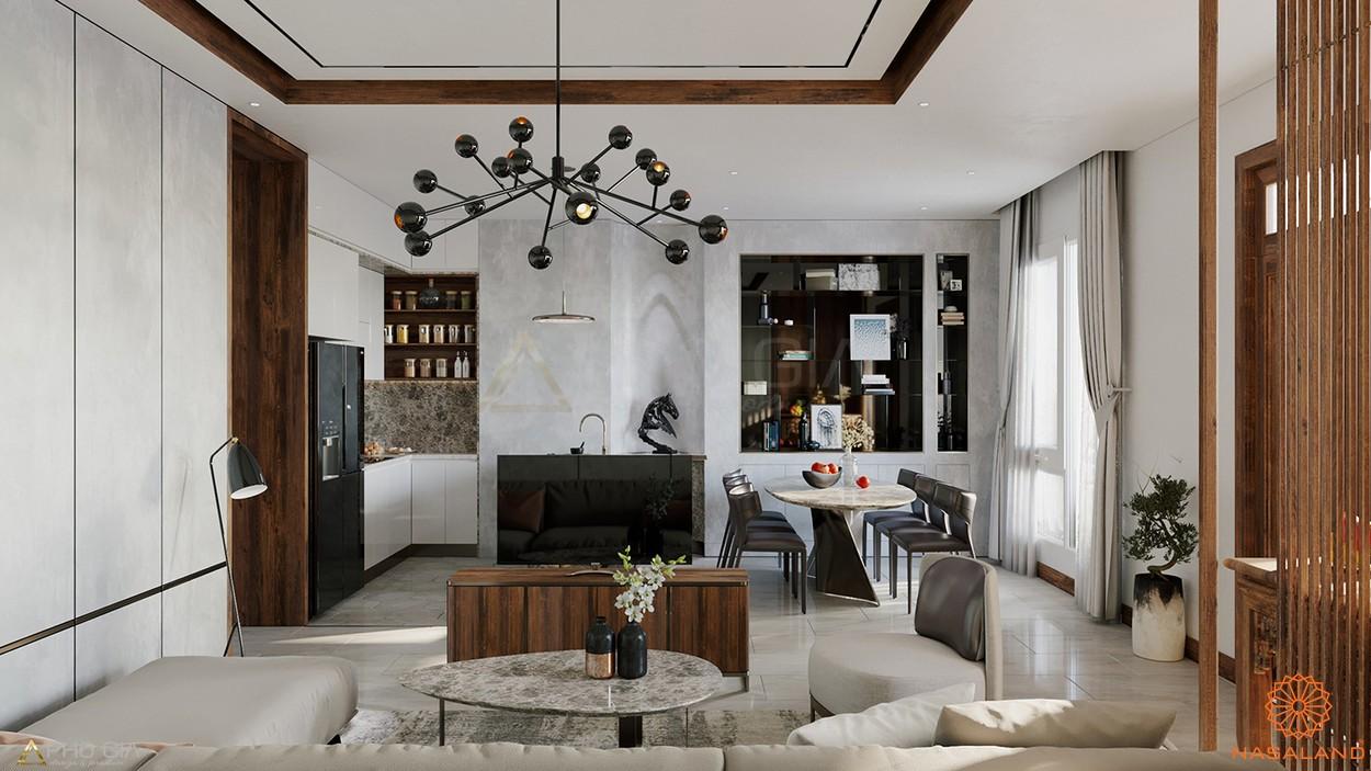 Mô hình phòng khách căn hộ bên trong dự án