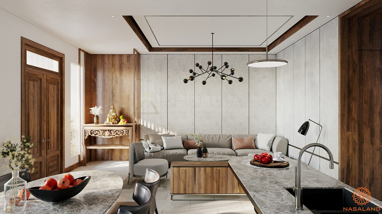 Mô hình phòng khách căn hộ tại dự án Lakeview City quận 2