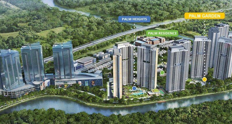 Phối cảnh tổng thể dự án khu đô thị Palm City quận 2 - Tiện ích Palm City