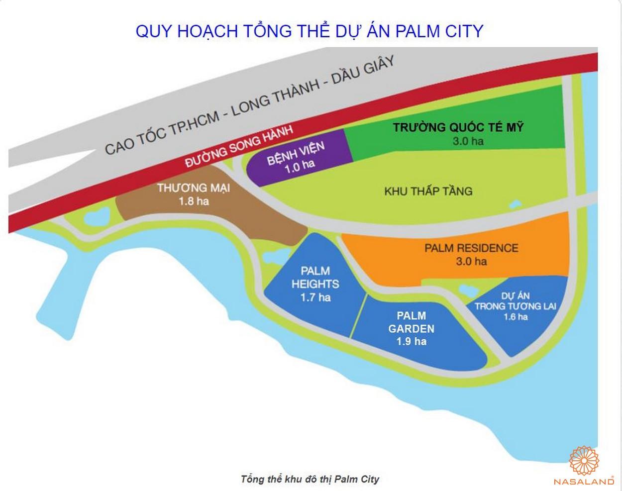 Mặt bằng tổng thể dự án khu đô thị Palm City quận 2