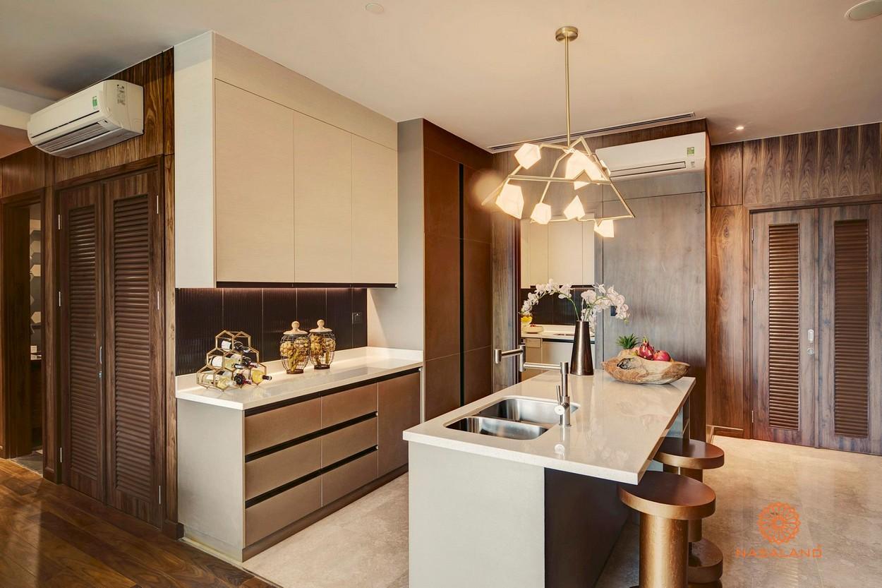 Thiết kế phòng bếp tại dự án căn hộ D'Edge Quận 2