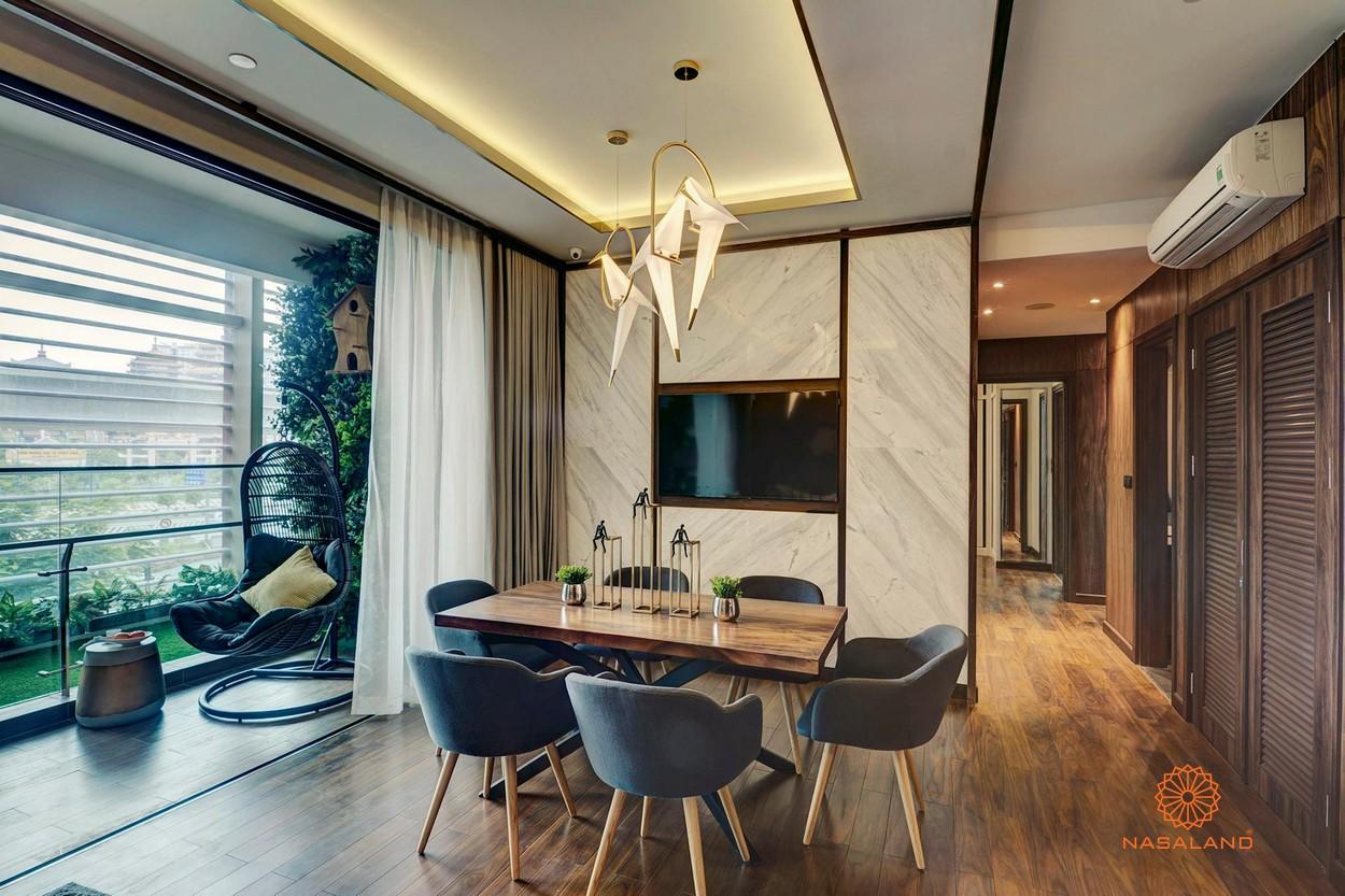 Thiết kế phòng khách tại dự án căn hộ D'Edge Quận 2