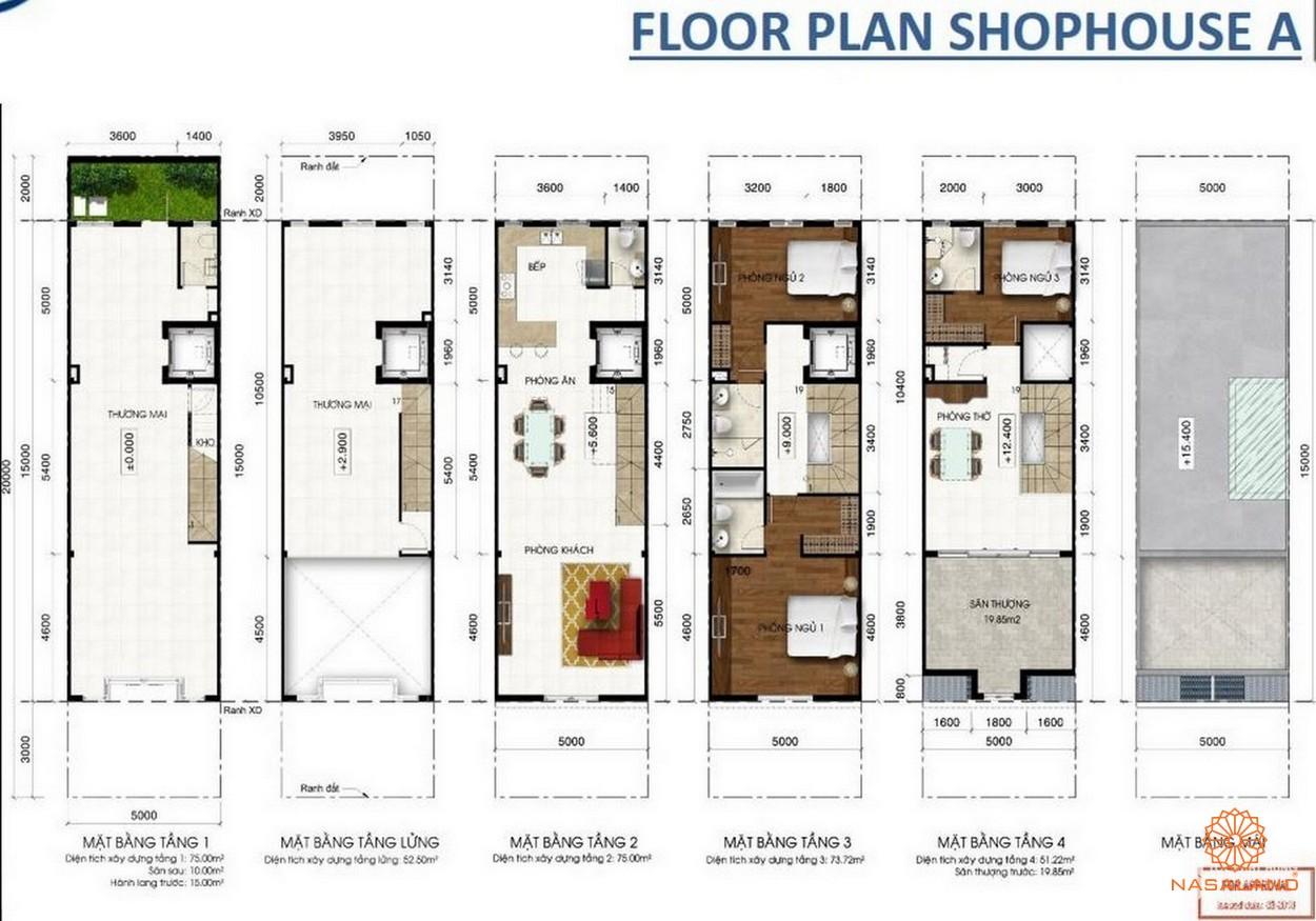 KĐT Lakeview Novaland quận 2 - thiết kế nhà phố thương mại