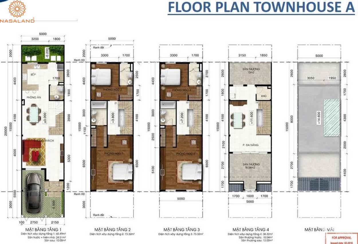 Thiết kế căn hộ Floor Plan Townhouse A bên trong dự án