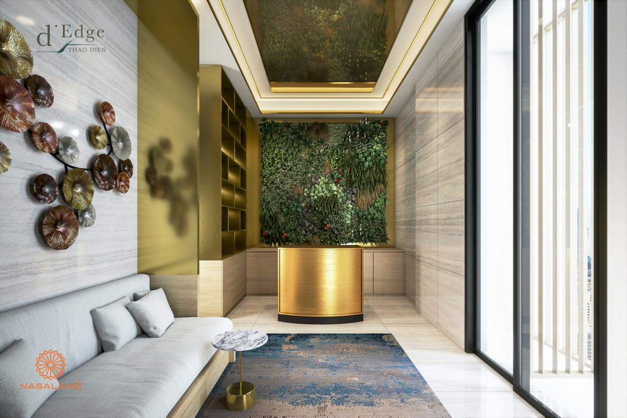 Sảnh chờ Spa & xông hơi Sauna tại dự án căn hộ D'Edge Thảo Điền