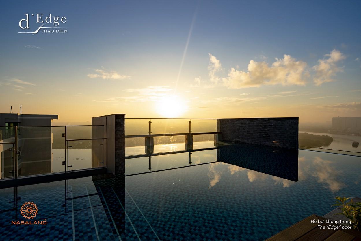 Hồ bơi Sky New không bờ nối liền 2 tòa tháp tại dự án căn hộ D'Edge Thảo Điền